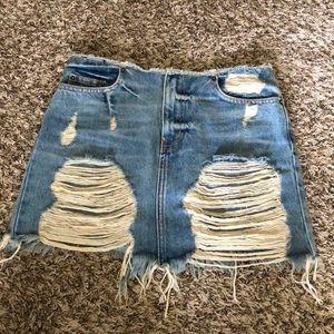 NWT LF denim mini skirt